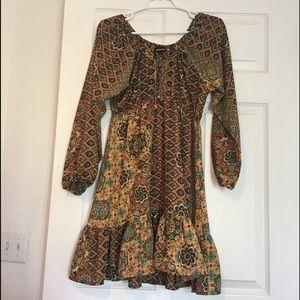 Fashion Fuse large Boho dress 3/4 sleeves